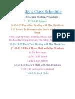 pedolzky homeroom schedule