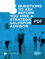 Six Questions to Ask Before You Hire a Strategic Salesforce Advisor