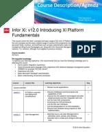 Infor Xi Introducing Xi Platform Fundamentals LMSDescription