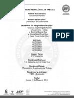 3er Rúbrica de Planeacipon y Organización Del Trabajo