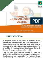 Proyecto Cuida de Mi, Crecer sin Violencia