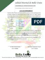 ACTA DE INTERNAMIENTO DE ELECTROBOMBA