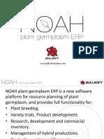 NOAH Plant breeding software