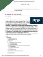 La Rédaction Des Textes Normatifs (Noti..