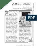 Freire y Ricoeur y La Identidad Narrativa