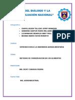 CONSERVACION de LOS ALIMENTOS Introducion a La Ing Agroalimentaria
