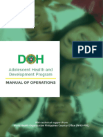 Adolescent Health and Development Program Manual of Operations