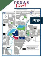 Texas Live! parking map