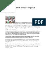 Tujuh Tahap Untuk Seleksi Caleg PKB