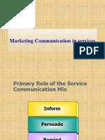Services Communication Mix