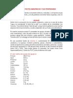 Valor de Frutos Amazónicos y Sus Propiedades