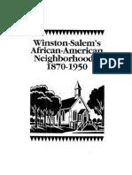 Winston-Salem's African-American Neighborhoods, 1870-1950