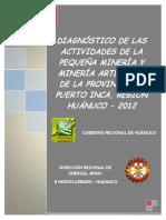diagnostico de actividades mineras en huanuco
