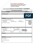 Specialist Physiotherapy Assessment Form