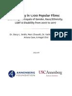 Inequality in 1,100 Popular Films