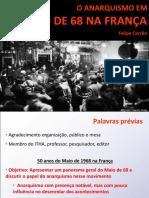 Felipe Corrêa - O Anarquismo Em Maio de 1968 (USP, jun/2018)