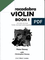 VIOLINO - MÉTODO - INFANTIL - Abracadabra (Peter Davey).pdf
