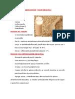 Elaboracion de Yogurt de Quinua