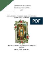 Eucaristia Dia de La Familia 2016