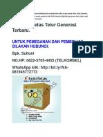 NO.HP:0822-5705-4455(TELKOMSEL), ALAT PENETAS TULUR