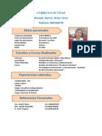 Curriculum Vitae Modelo Editable