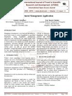 Department Management Application
