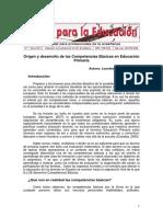 Origen y Desarrollo de Las Competencias Básicas en Educación Primaria