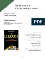 DUBET EN LA ESCUELA SOCIOLOGIA DE LA EXPERIENCIA CAPT 5 Y 6 EXP COLEGIAL .pdf