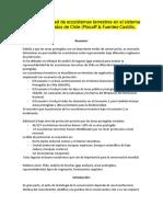 Representatividad de ecosistemas terrestres en el sistema de áreas protegidos de Chile