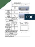 48V50Ah (3U)Telecom Power Supply Specification