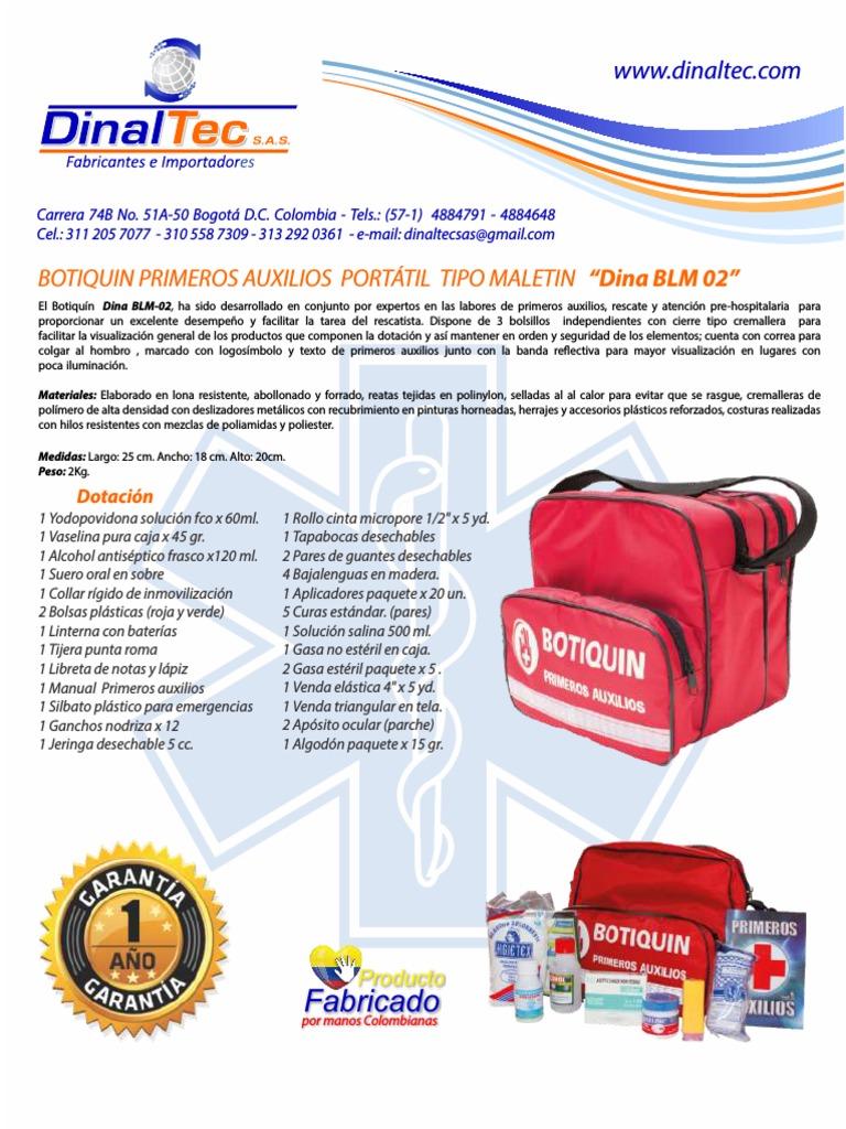 tipos de botiquin de primeros auxilios ppt