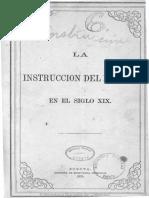 La Instruccion Del Pueblo en El Siglo XIX Traduccion Del Frances de Aureliano Gonzalez T