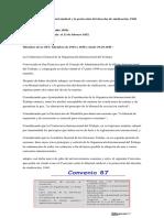 Convenio 87 ratificado en Guatemala