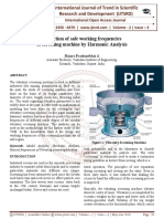 Prediction of safe working frequencies of screening machine by Harmonic Analysis