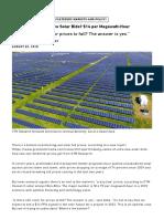 The Floor for Ultra-Low Solar Bids_ $14 per Megawatt-Hour _ Greentech Media