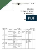 Yearly Lesson Plan English Language form 3