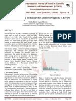 Various Data Mining Techniques for Diabetes Prognosis