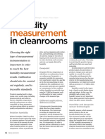 Vn180 Humidity Measurement in Cleanrooms