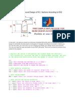 MATLAB Code for Flexural Design of R