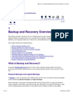 1 Backup and Recovery Overview