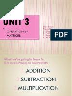 3.2 Operation Matrices