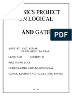 Physics Project on Logical and Gate