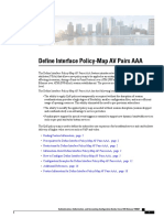 Define Interface Policy Map Av Pairs Aaa