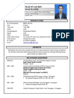 Resume Fuad Malay Upadated (Latest)