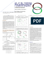 Numerical analysis of the Caledonian Symmetric Four Body problem using efficient fourth order symplectic integrator