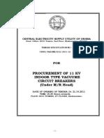 Indoor VCB Panel procurement