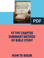 Bible Study Methods—#2 chapter summary