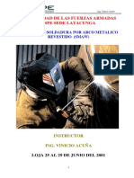 Proceso de Soldadura Por Arco Metalico Revestido (Smaw)