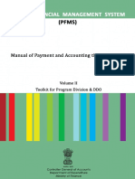PFMS User Manual of Payment and Accounting Through PFMS