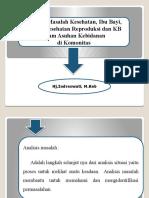 Analisis Masalah Kesehata,Ibu Bayi,Balita,Kesehatan Reproduksi Dan KB Dalam